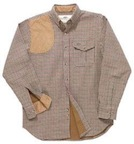 Boyt HU1550 Houndstooth Shirt With Suede Trim