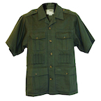 Boyt SA550 Green Short Sleeve Safari Jacket
